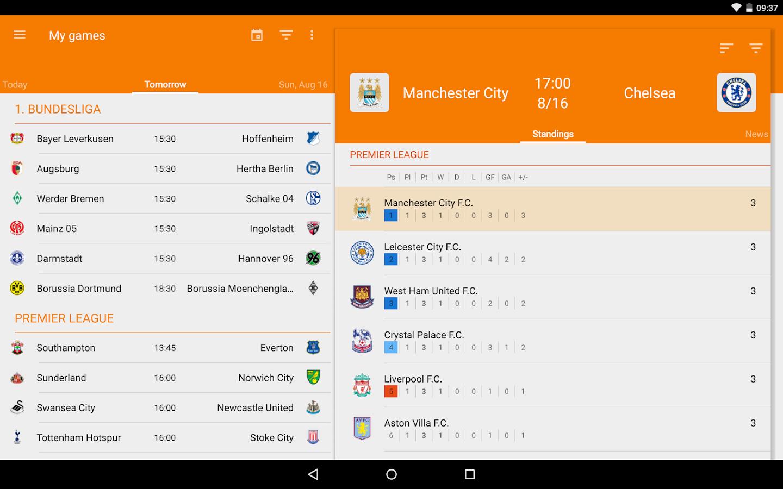 Sporee - Live Soccer Scores- screenshot