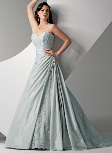 Ice Blue Winter Wedding Dresses 2010