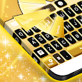 Neon Gold Keyboard Theme icon
