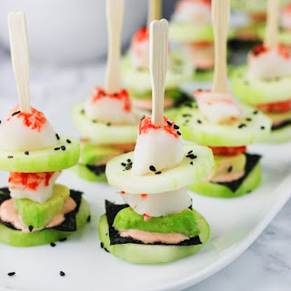 California Roll Low Carb Sushi Stacks.