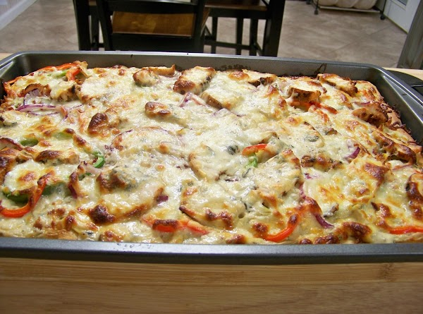 Top with shredded Italian cheese blend. Place back in oven and bake for 12...