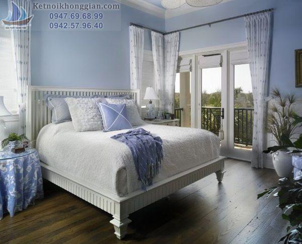 thiết kế phòng ngủ xanh dịu đẹp mắt