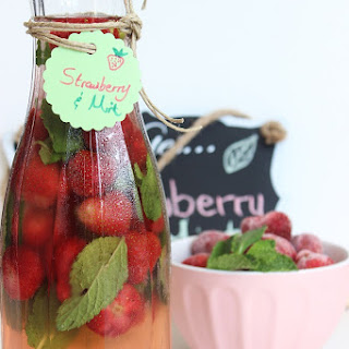 Strawberry & Mint Flavored Water