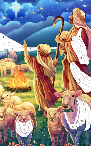 Bible Coloring - Paint by Number, Free Bible Games 2.5.2 screenshots 12