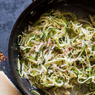Zucchini Noodles with Garlic, Butter & Parmesan.