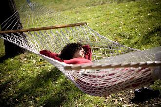 Photo: Yoga Farm, Grass Valley, CA - rest on the hammock