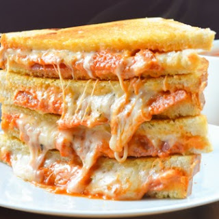 Pepperoni Pizza Grilled Cheese Sandwiches