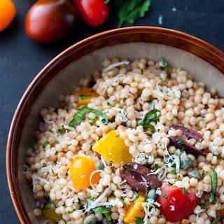 Mediterranean Israeli Couscous Salad.