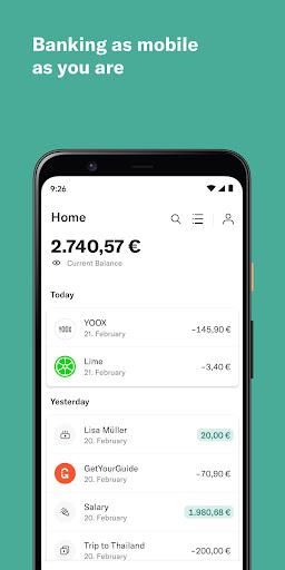 N26 – De mobiele bank screenshot