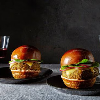 The NoMad Bar Veggie Burger With Piquillo Aioli