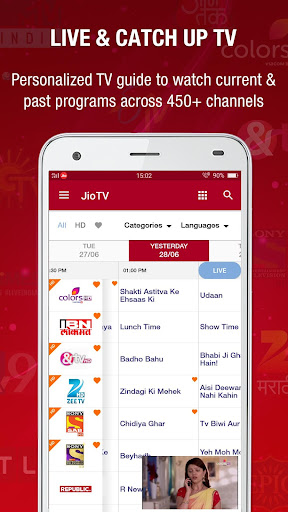 JioTV Live Sports Movies Shows App (APK) scaricare gratis per Android/PC/Windows screenshot