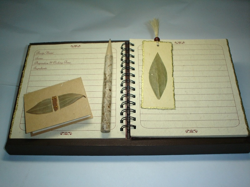 Handcrafted recipe book