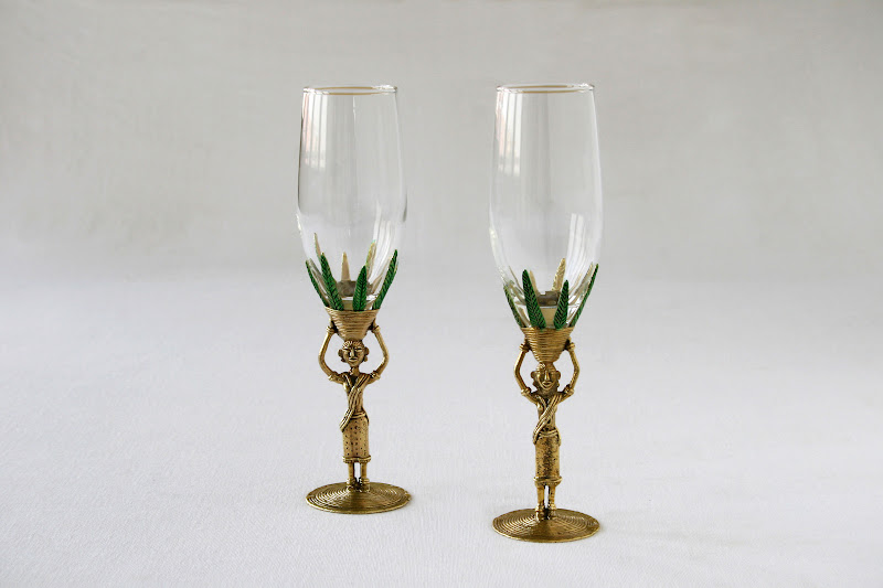 Dhokra Champagne Glass