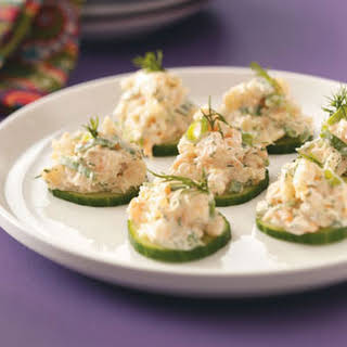 Cucumber Shrimp Appetizers.