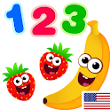 Funny Food 123! Kids Number Games for Toddlers icon