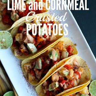 Lime and Cornmeal Crusted Potatoes