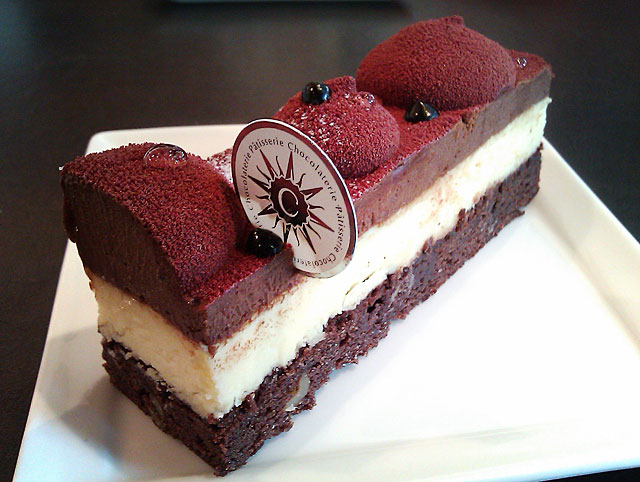 Triple chocolate cheesecake