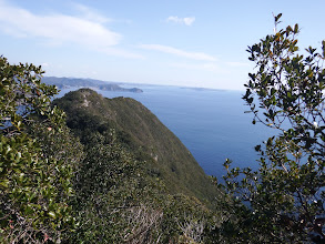 この辺りから右は崖に