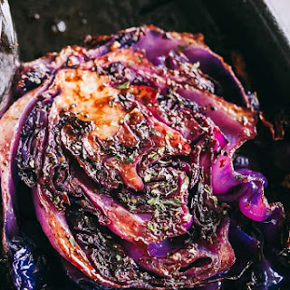 Balsamic Roasted Cabbage Steaks.