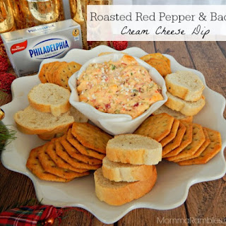 Roasted Red Pepper & Bacon Cream Cheese Dip Recipe