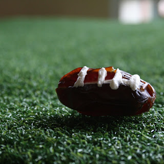 Stuffed Date Footballs.