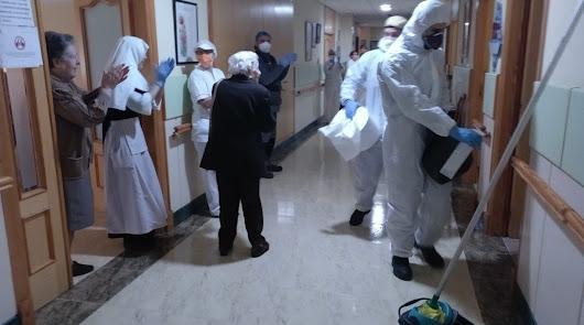 La UME vuelve a Almería y desinfecta cuatro residencias de mayores