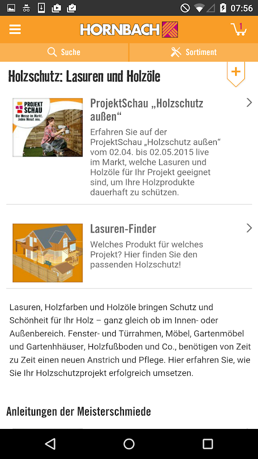 hornbach android apps on google play. Black Bedroom Furniture Sets. Home Design Ideas