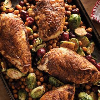 Smoky Chicken Breasts & Crispy Chickpeas