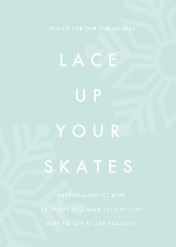 Lace Up Your Skates - Card Template