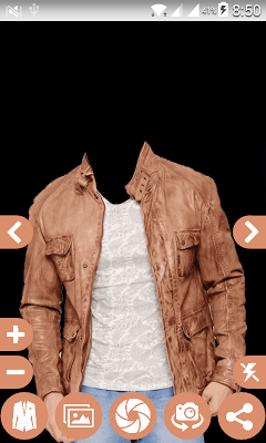 Man Leather Jacket Photo suit - screenshot