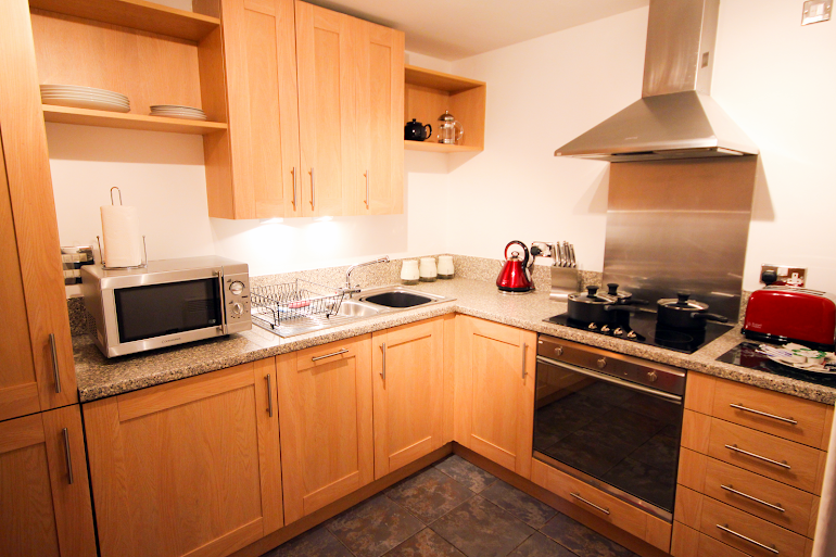 Fully equipped kitchen at Baltic Quays
