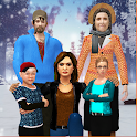 Virtual Family Simulator Winter Vacations Fun icon