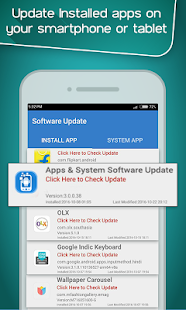 Apps & System Software Update Screenshot