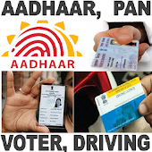 Aadhaar Card Pan Voter Drving