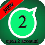 open 2 account whatsapp Prank Icon