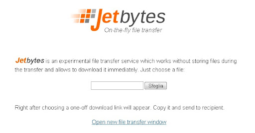 Condividere i file attraverso un link con JetByte