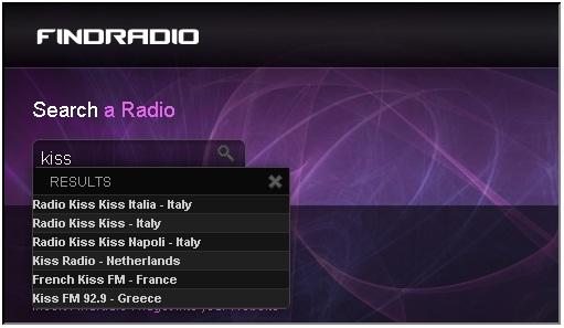 Ascoltare la radio su Facebook con FindRadio
