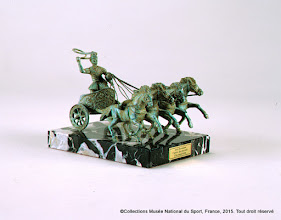 Photo: Réplica miniature de char de gladiateur romain en bronze, Brasini Gino, 2007