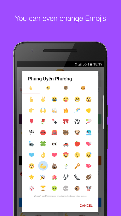 Mauf - Messenger Color & Emoji- screenshot