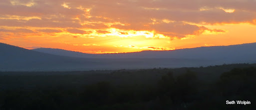 Photo: And a beautiful sunrise on day 3 - Shira Camp