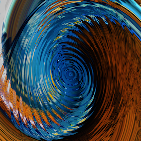 Wooden Wave by Liz Pascal - Digital Art Abstract
