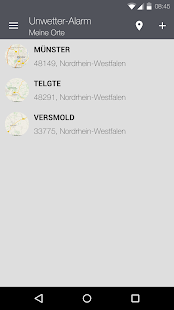 Unwetter-Alarm Screenshot