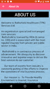Rothshield  Insurance TPA LTD- screenshot thumbnail