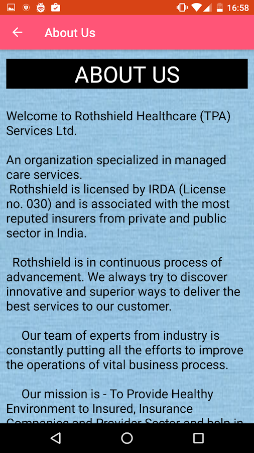 Rothshield  Insurance TPA LTD- screenshot