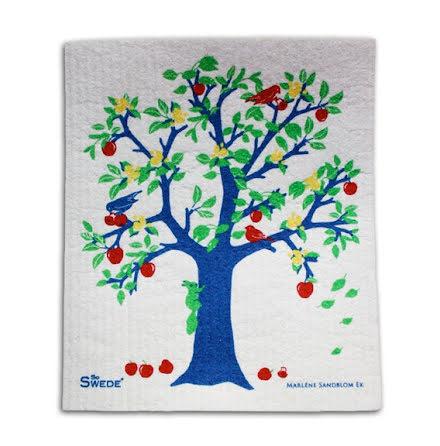 Disktrasa med blått träd