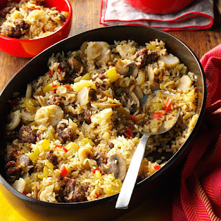 Sausage and Rice Casserole Side Dish.