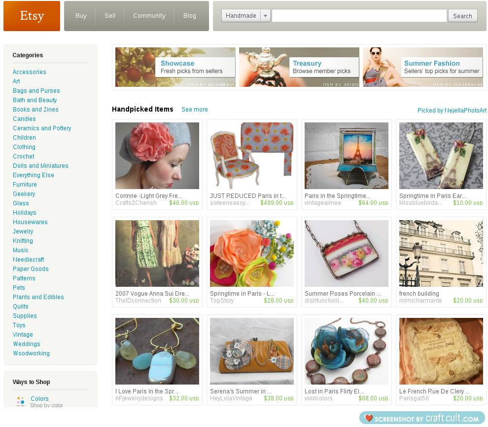 I'm On Etsy's Front Page!