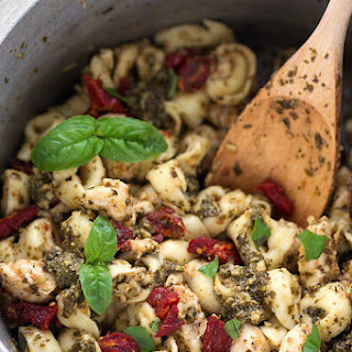 One-Pot Pesto Chicken Tortellini