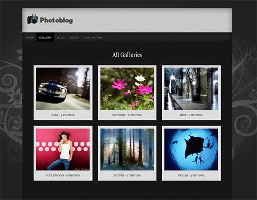 шаблон фотоблога