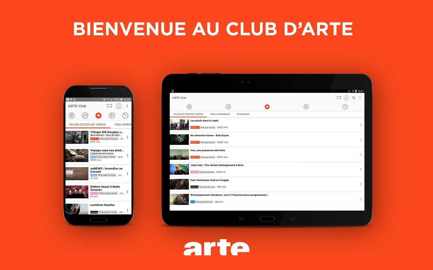 ARTE TV – Streaming et Replay – Capture d'écran